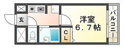 アクティ塚口[1階]の間取り