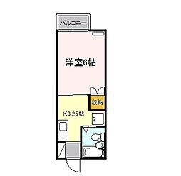 東京都江戸川区東葛西6丁目の賃貸アパートの間取り