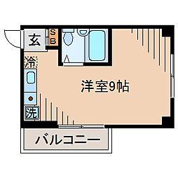 サンピア大倉山[204号室]の間取り