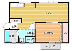 第1コーポ平野[2階]の間取り