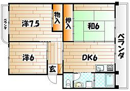 第三泉ヶ丘ビル[3階]の間取り