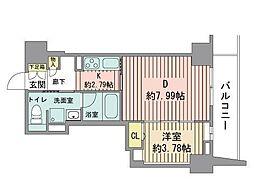 レジディア大通公園[11階]の間取り