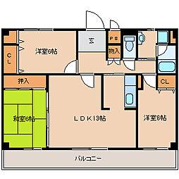 兵庫県尼崎市大庄北3丁目の賃貸マンションの間取り