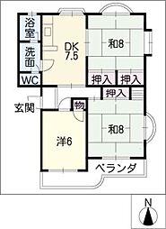 第2レオン光園[4階]の間取り