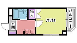 夙川ル・カンフリエ[3階]の間取り