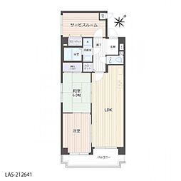 サービスルームは部屋として使用可能です。
