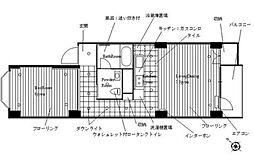 神奈川県横浜市西区東ケ丘の賃貸マンションの間取り