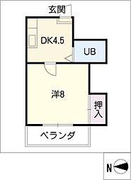 サン木ノ下[4階]の間取り