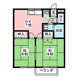 エトワール浅草 A棟[2階]の間取り
