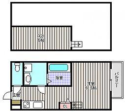 大阪府堺市堺区中之町東2丁の賃貸アパートの間取り