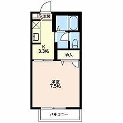 長野県長野市大字栗田の賃貸アパートの間取り