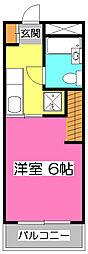 埼玉県狭山市入間川の賃貸アパートの間取り