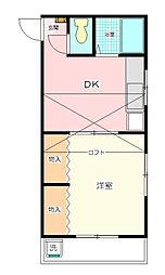 Mプラザ8坂戸[205号室号室]の間取り