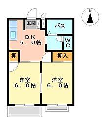 グリーンハイツ五反田2[1階]の間取り