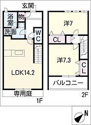 [タウンハウス] 愛知県西尾市米津町宮東 の賃貸【/】の間取り