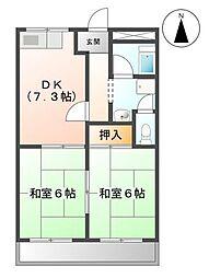 メゾン八田[203号室]の間取り