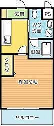 ギャラン吉野町[807号室]の間取り