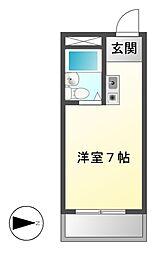 愛知県名古屋市守山区天子田1の賃貸マンションの間取り