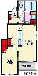 クレメントI[1階]の間取り