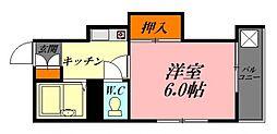 広島県広島市中区白島中町の賃貸マンションの間取り