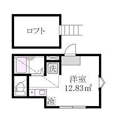 東京都三鷹市井口5丁目の賃貸アパートの間取り