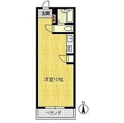 エバーグリーン新大阪[1階]の間取り