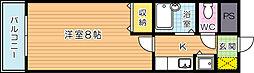 Bergamotto吉野町(ベルガモット吉野町)[706号室]の間取り