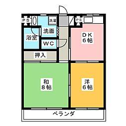 オズハウス2[3階]の間取り