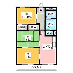 エスポワール小坂[2階]の間取り