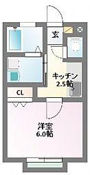 HABITATION[1階]の間取り