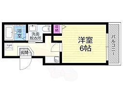 JR奈良線 東福寺駅 徒歩5分の賃貸アパート 3階1Kの間取り