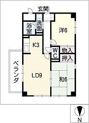 U−DINE赤城[7階]の間取り