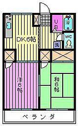 埼玉県さいたま市大宮区堀の内町3丁目の賃貸アパートの間取り