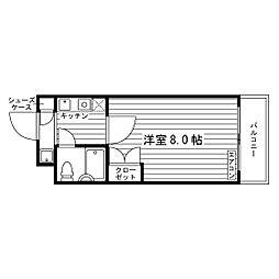 ヤングハイム谷塚[2階]の間取り