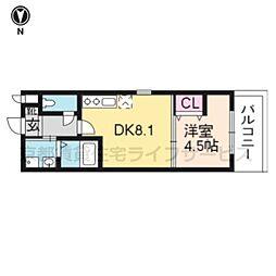 Residence二条洛中庵[305号室]の間取り