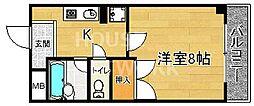 コモド・エスぺシオ勝山[207号室号室]の間取り