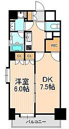 レジディア浅草橋[6階]の間取り