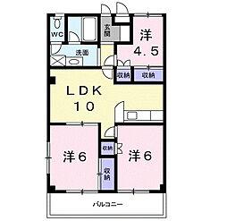 ガーデンコート大喜[2階]の間取り