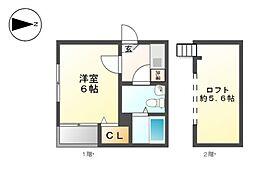 カ−サルチア志賀本通[2階]の間取り
