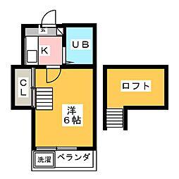 サンライズ稲沢[2階]の間取り