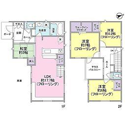 [一戸建] 千葉県松戸市栄町3丁目 の賃貸【/】の間取り