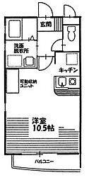 Nest Hayashi[303号室]の間取り