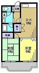 森コーポ[310kk号室]の間取り