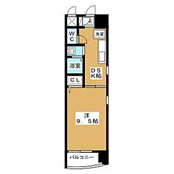 セントラルハイツ柳橋[2階]の間取り