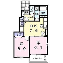 南竜王町アパート[0101号室]の間取り