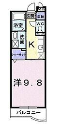 香川県高松市鶴市町の賃貸マンションの間取り