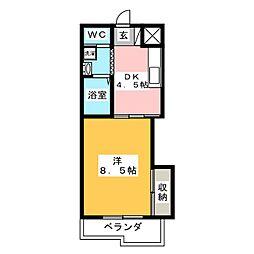 サンハイムⅡ[2階]の間取り