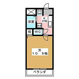 サンガーデン青江II[2階]の間取り