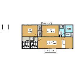 フォレストメゾン安東[2階]の間取り