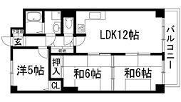 インペリアル花屋敷[2階]の間取り